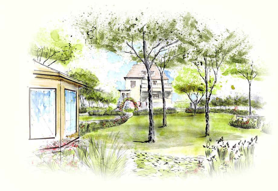 Perspektiven zeichnen nullkommaneun - Garten zeichnen ...