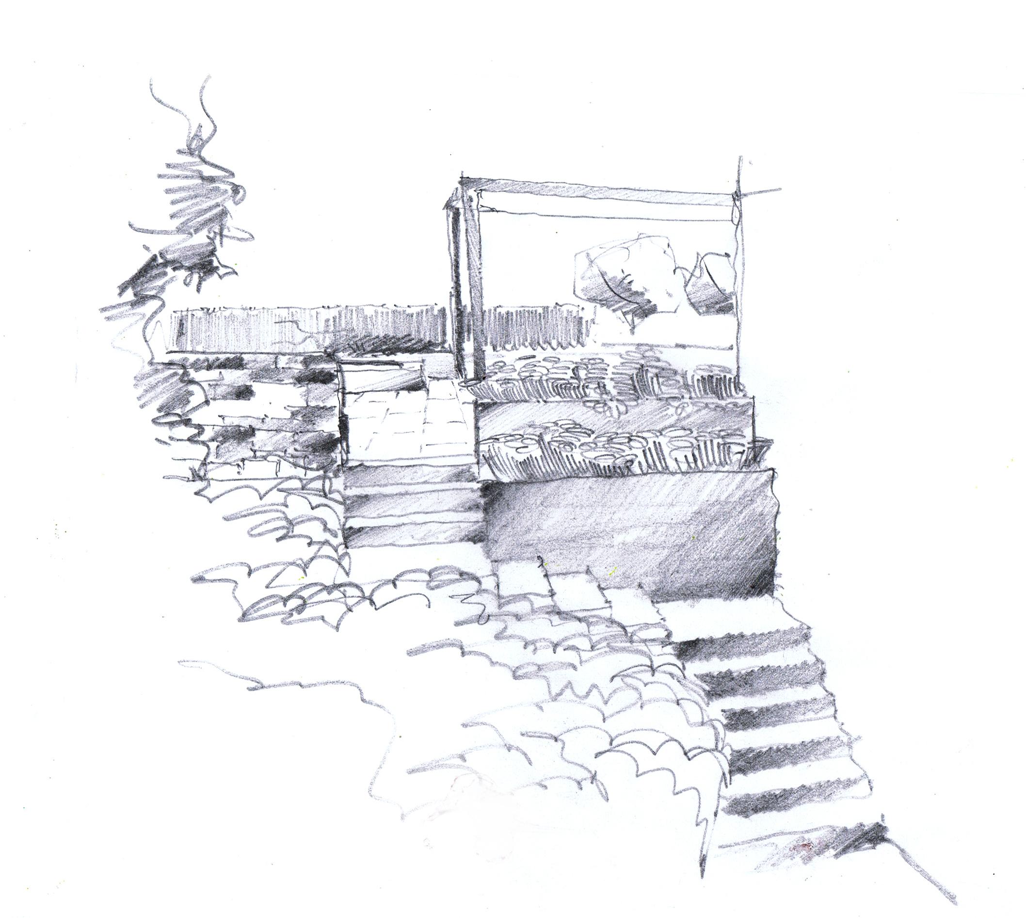 Landschaftsarchitektur garten skizze - Garten zeichnen ...